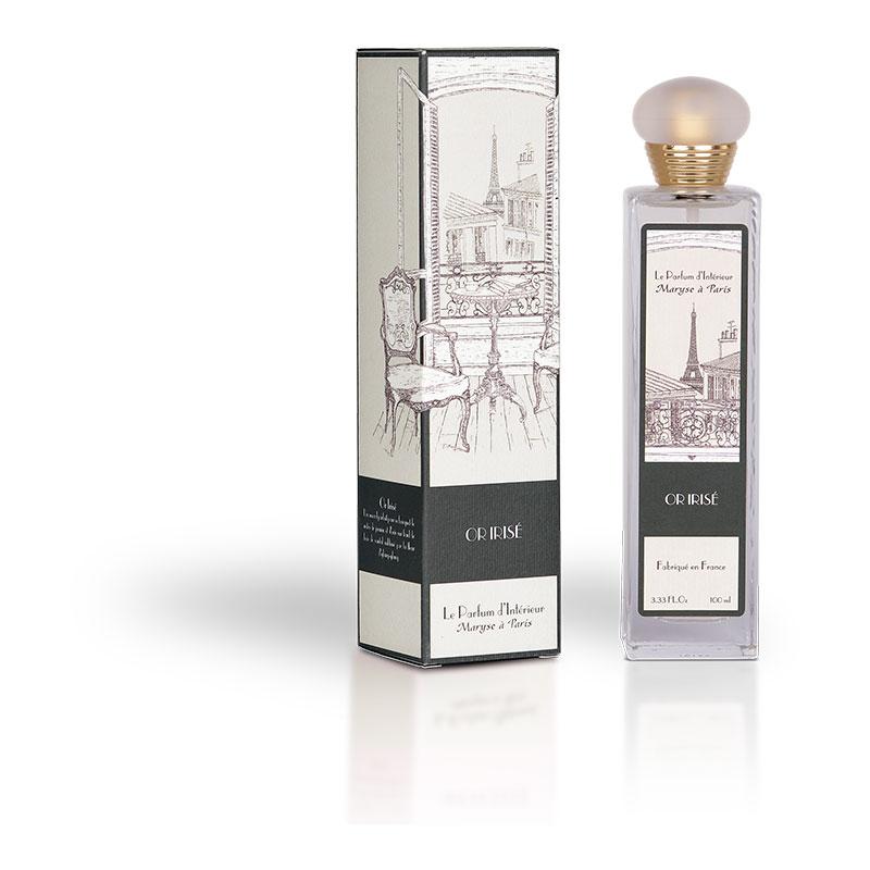 Parfum Spray d'ambiance Intérieur - Or Irisé Coussin Senteur Paris